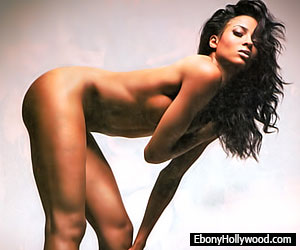 Dancing young naked ebony